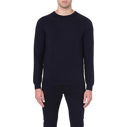 REISS Merino wool crew-neck jumper (Navy