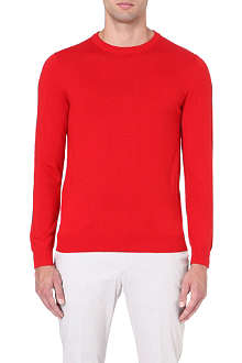 REISS Merino crew-neck jumper
