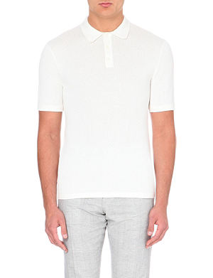 REISS Hector cotton polo shirt