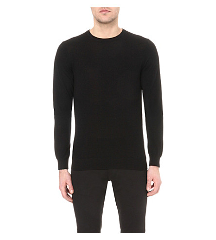REISS Hart wool jumper (Black