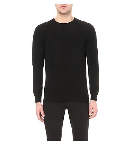 REISS Hart wool sweater (Black