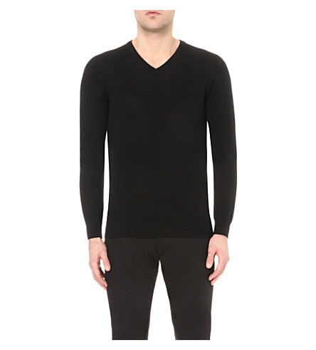 REISS Emporer wool jumper (Black