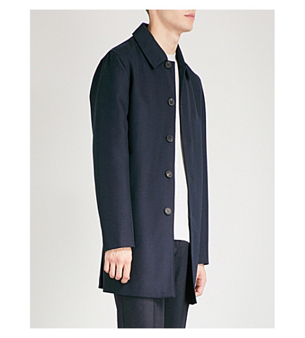 REISS Arnold wool-twill trench coat (Navy