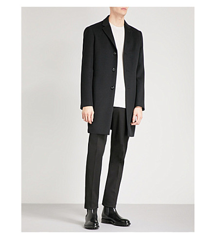 REISS Gable wool-blend coat (Black