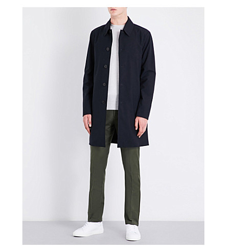 REISS York shell mac raincoat (Navy