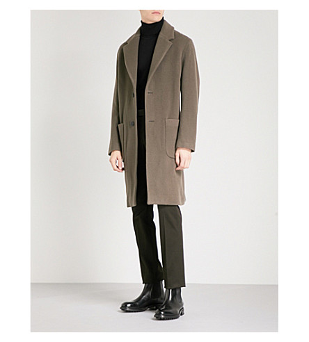 REISS Voisset wool-blend coat (Brown