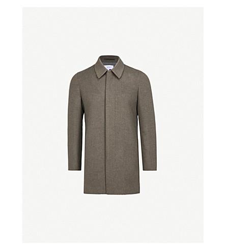 REISS Lancecroft wool-blend coat (Green