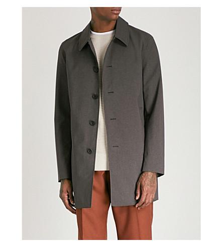 REISS Bolt woven coat (Charcoal