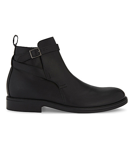 REISS Barnell leather ankle boots (Black