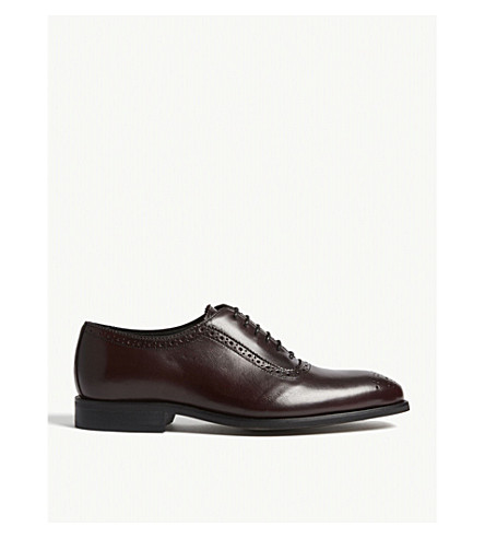 REISS Rivers leather brogues (Bordeaux