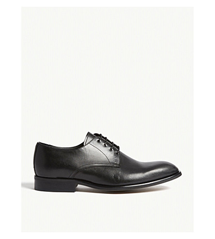 REISS Richardson leather Derby shoes (Black