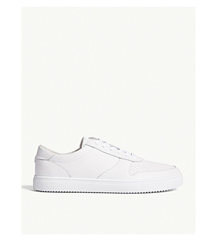 REISS Gregory Clae leather trainers (White