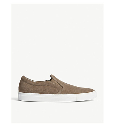 REISS Delon suede trainers (Taupe