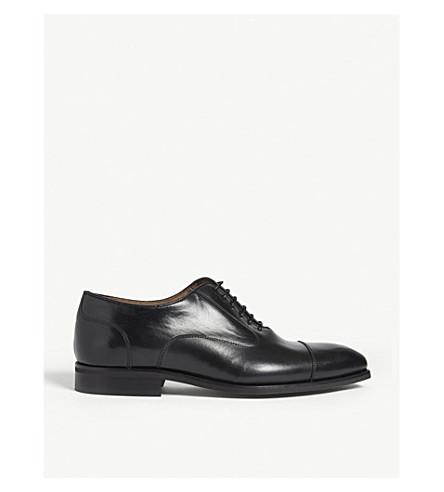 REISS 雷斯顿皮革牛津鞋履 (黑色