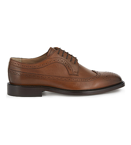 REISS Ash leather brogues (Brown