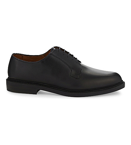 REISS Leeds 2.0 leather derby shoes (Black