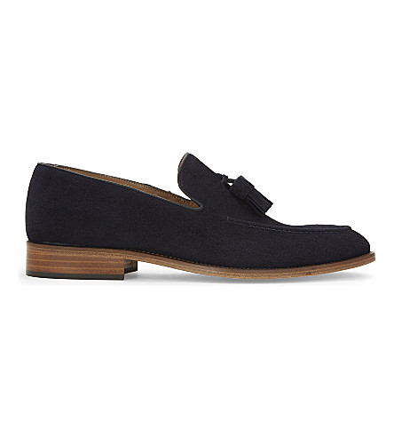REISS Patrick suede driving shoes (Navy