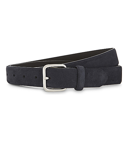 REISS Jacob suede belt (Navy