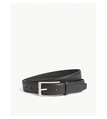 REISS Theo leather suit belt (Black