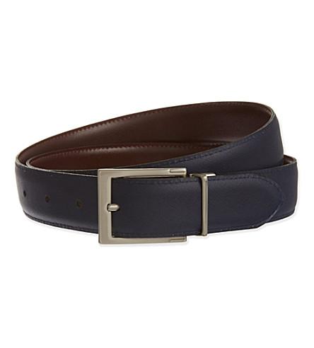 REISS Dart reversible belt (Black