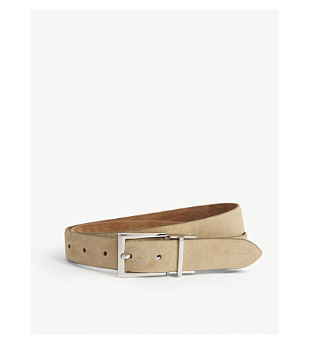 REISS Whit suede reversible belt (Light+grey