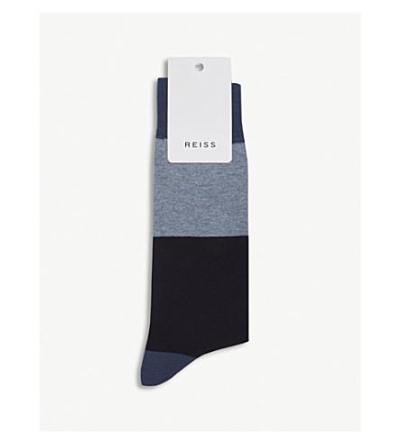 REISS 群集棉混纺袜 (蓝色