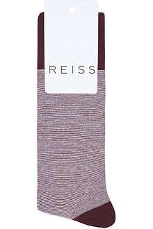 REISS Fine stripe socks