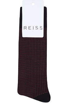 REISS Dogtooth check socks