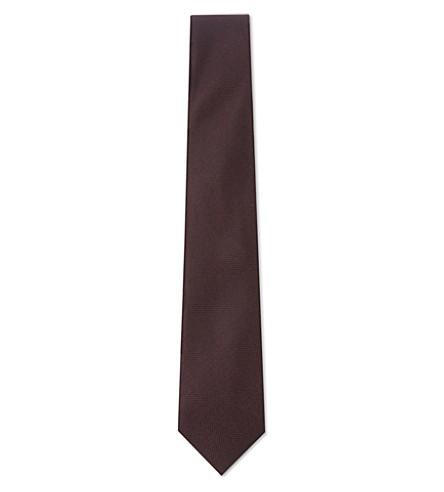 REISS 仪式织真丝领带 (勃艮第