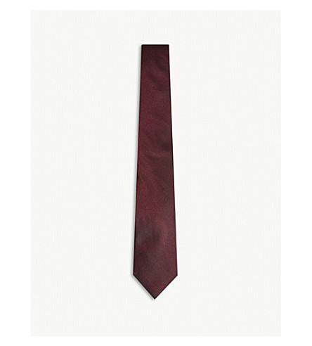 REISS Filardo silk tie (Bordeaux