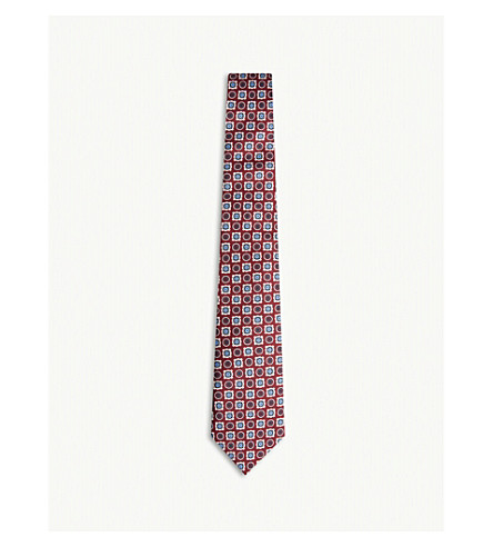 REISS Frederico silk tie (Red