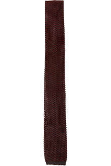 REISS Kay textured knitted silk tie