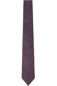 REISS Dwythe polka-dot silk tie