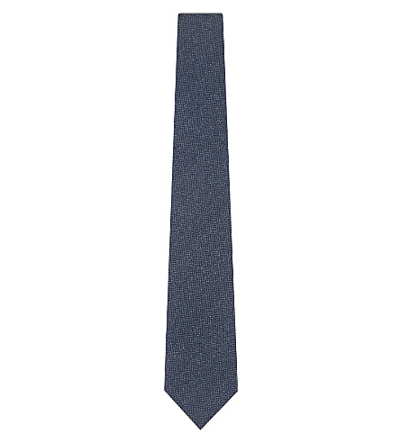 REISS Ceremony silk tie (Indigo