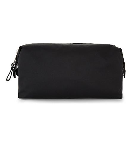 REISS Welling nylon wash bag (Black