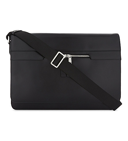 REISS Marshall messenger bag (Black