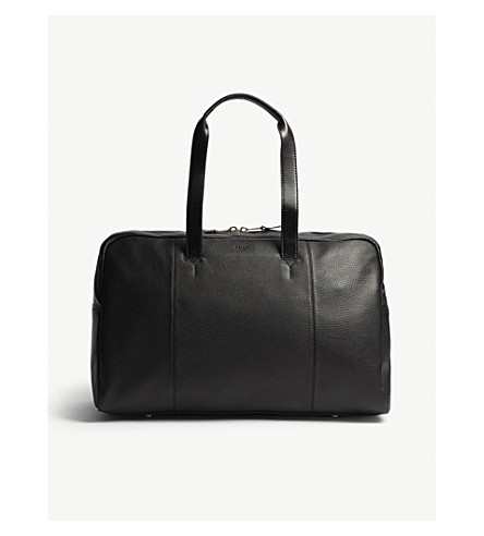 REISS Bournemouth leather holdall (Black