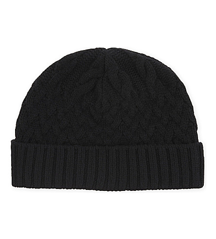 REISS Bedford wool-blend beanie (Black