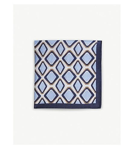 REISS Francisco pocket square (Soft+blue