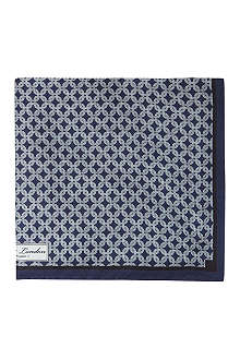 REISS Abyss chain print silk pocket square