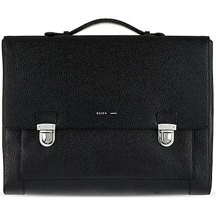 REISS Holt briefcase (Black