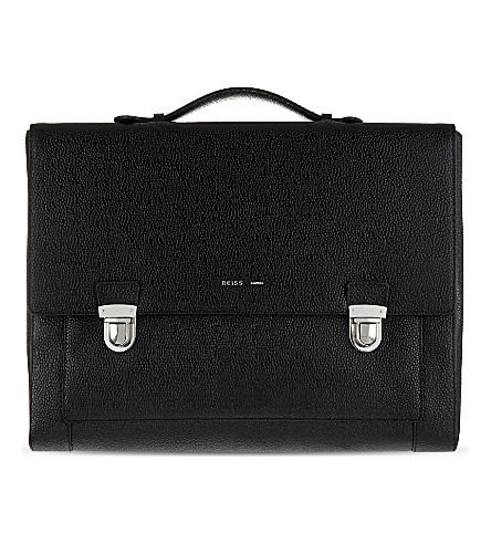 REISS Holt briefcase (Black
