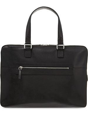 REISS Clanton leather briefcase