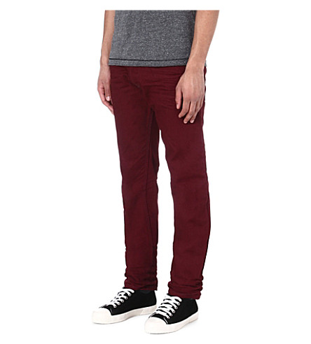 DIESEL Darron regular-fit tapered jeans (42m (burgundy)