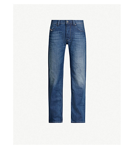 DIESEL Larkee 08XR regular-fit straight jeans (Light+blue
