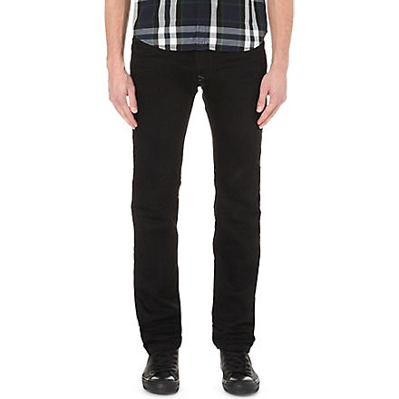 DIESEL Darron 008QU slim tapered jeans (Black
