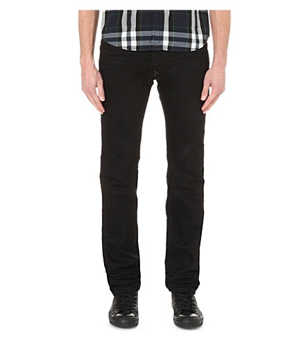 DIESEL Darron 008QU slim-fit tapered jeans (Black