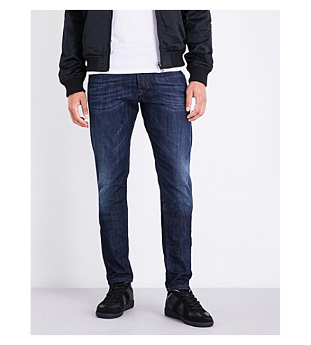 DIESEL Tepphar slim carrot-fit skinny jeans (Dark+wash+blue