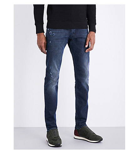 DIESEL Tepphar slim-fit tapered jeans (Dark+wash+blue