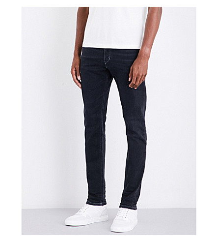 DIESEL Tepphar slim-fit tapered jeans (Dark+wash+black